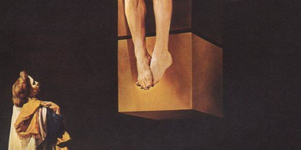 Detail from Salvador Dali, Crucifixion ('Corpus Hypercubus'), 1954.