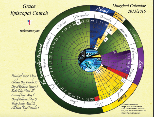 Calendar of Church Year 2015-16